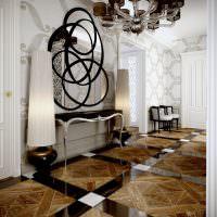 Богатый интерьер коридора в стиле арт-деко