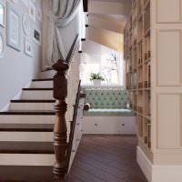 Деревянная балясина маршевой лестницы