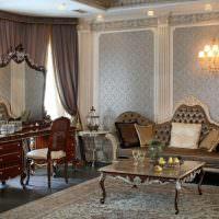 Диван-софа в интерьере классической гостиной