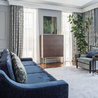 Дизайн гостиной частного дома в стиле неоклассики