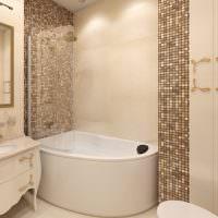 Угловая ванна из акрила белого цвета