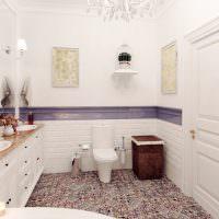 Пестрый пол из керамической мозаики