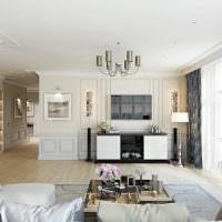 Белый потолок в светлой комнате
