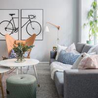 Модульная картина с изображением велосипеда
