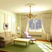 Дизайн гостиной в салатовом оттенке