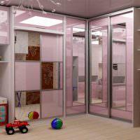 Угловой шкаф в детской комнате