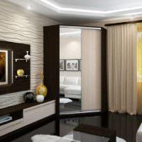 Глянцевая поверхность черного покрытия пола гостиной