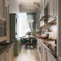 Узкая кухня в стиле прованс