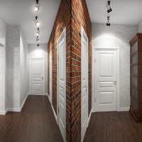 Интерьер светлой прихожей с элементами лофта