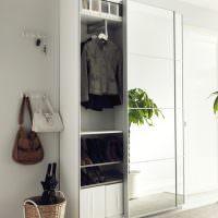 Узкий шкаф-купе для верхней одежды