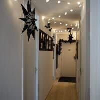 Декорирование узкого коридора к празднику