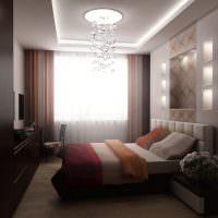 Ниши с подсветкой над изголовьем кровати