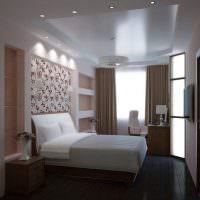 Декоративное освещение в современной спальне