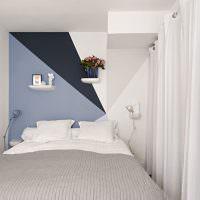 Дизайн узкой спальни в стиле минимализма