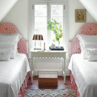 Интерьер детской комнаты для двух девочек