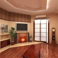 Дизайн зала в восточном стиле