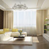 Желтые подушки на белом диване