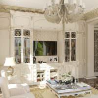 Мебель в гостиной в классическом стиле