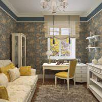 Желтый цвет в декорировании гостиной