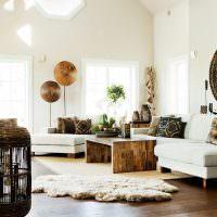 Журнальный столик из клееной древесины