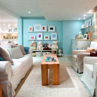Оформление зоны отдыха в кухне-гостиной