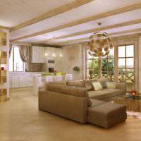 Дизайн просторной кухни-гостиной