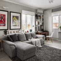 Дизайн современной квартиры в серых тонах