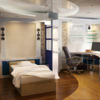 Зонирование комнаты с помощью напольного покрытия