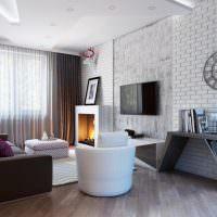 Интерьер гостиной в стиле минимализма