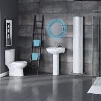 Ванная комната со серыми стенами
