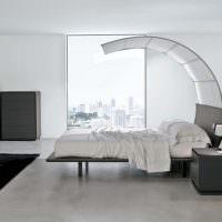 Дизайн белой спальни в духе минимализма