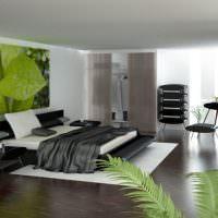 Зеленый цвет в оформлении спальни в стиле минимализма