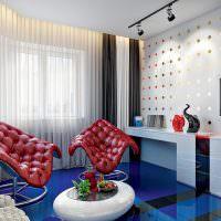 Современная комната в стиле поп-арт