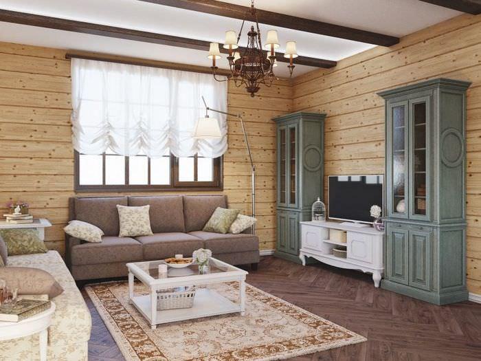 Дизайн гостиной загородного дома в стиле классики