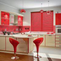 Дизайн современной кухни в красном цвете