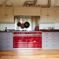 Двойная кухонная вытяжка на газовыми плитами