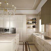 Мраморные столешницы кухонного гарнитура