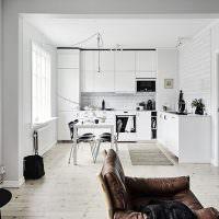 Современная кухня в скандинавском стиле