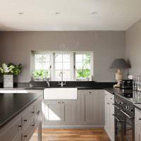 Интерьер кухни без навесных шкафов