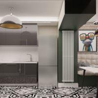 Интерьер кухни-столовой в городской квартире