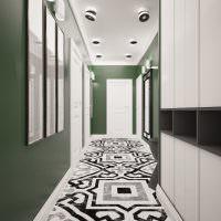 Серо-белый пол из керамической плитки