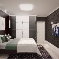 Дизайн современной спальни в серых оттенках