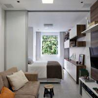 Дизайн квартиры студии вытянутой формы