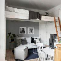 Зона для отдыха под спальным местом