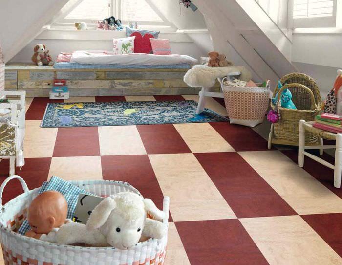 Использование мармолеума в качестве напольного покрытия для детской комнаты