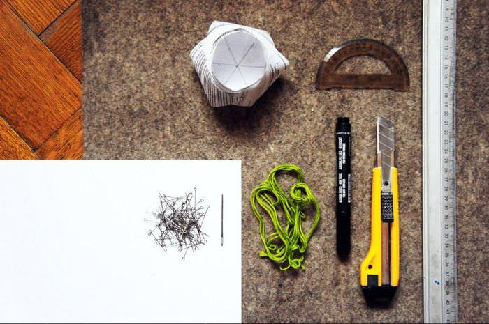 Материалы и инструменты для изготовления декоративной корзинки