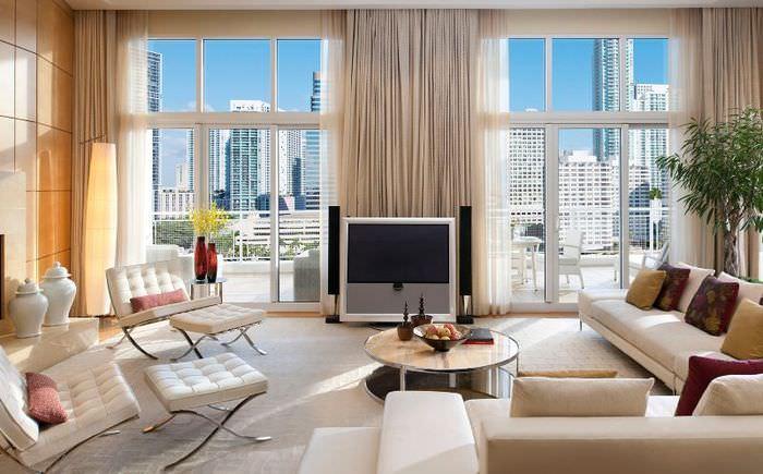 Дизайн гостиной в современном стиле оформления