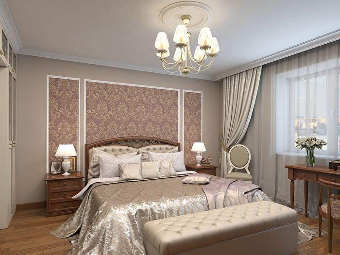 Использование молдингов при оформлении интерьера спальни