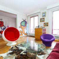 Оригинальный интерьер детской комнаты в стиле поп-арт