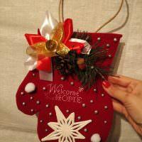 Мешочек для подарка в форме варежки